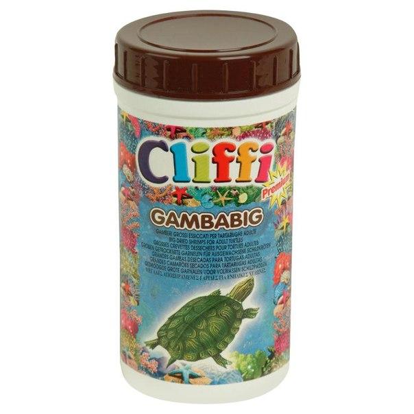 Корм для черепах cliffi, большие сушеные креветки, 1000 мл