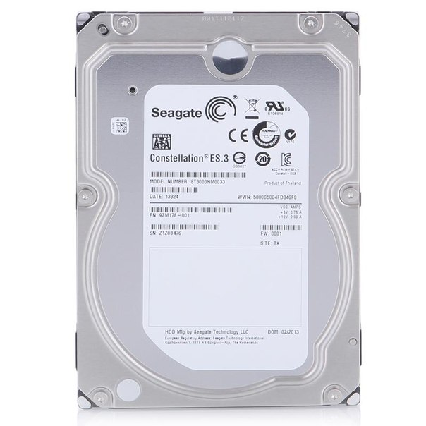 Жесткий диск hdd 3тб, seagate constellation es.3, st3000nm0033