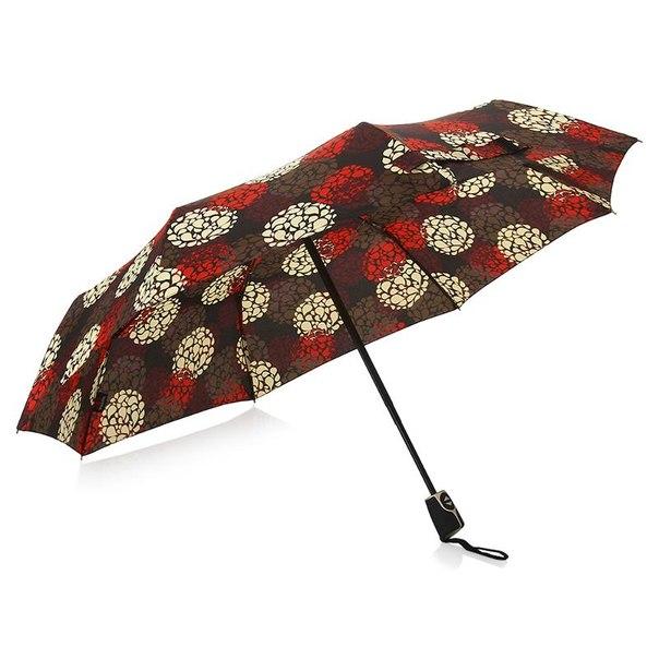 Зонт женский doppler party power, 3 сложения, полиэстер, полный автомат, фиберглас
