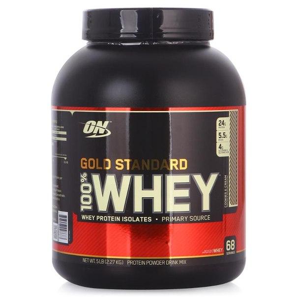 Протеин optimum nutrition 100% whey gold standard (печенье крем) 2270 г