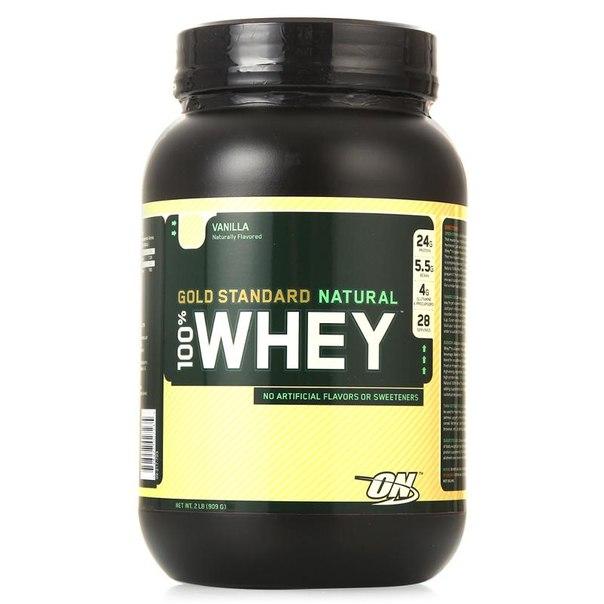 Протеин optimum nutrition 100% whey gold standard natural (ваниль) 909 г