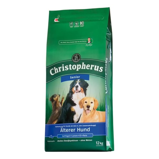 Корм сухой christopherus для взрослых собак средних и крупных пород, 12 кг, птица/ягненок