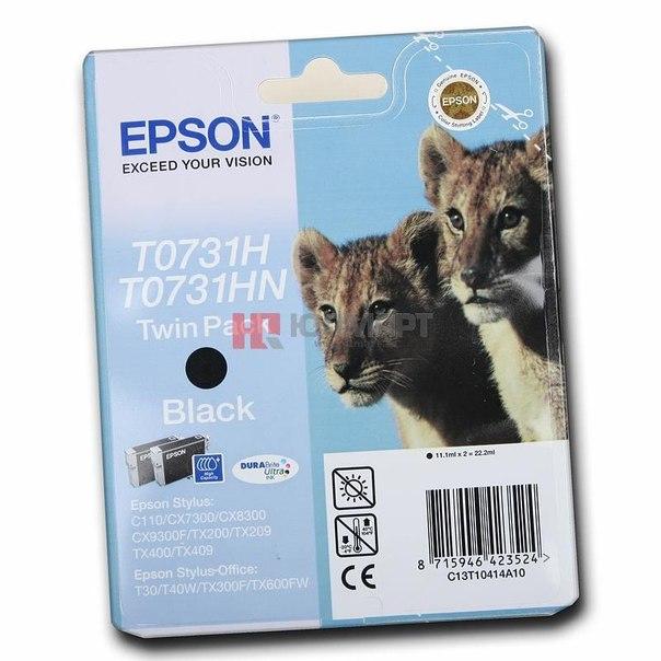 Двойная упаковка картриджей epson t10414a