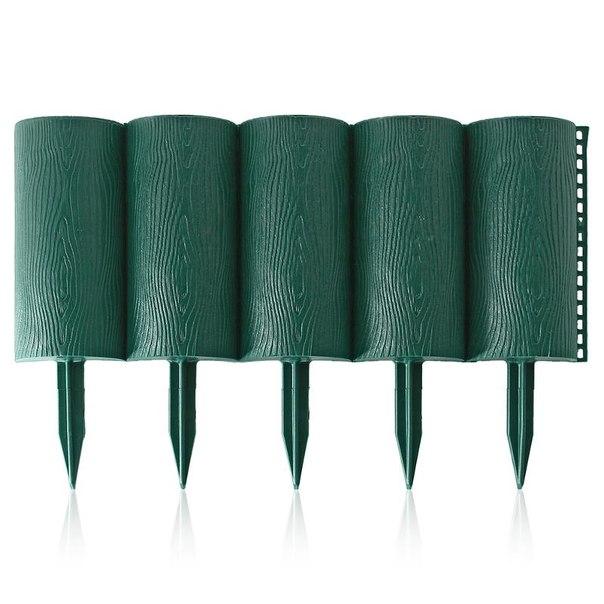 Ограждение садовое садовый конструктор 0,21х3м, цвет зеленый