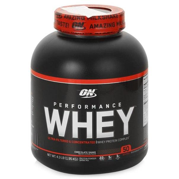 Протеин optimum nutrition whey performance (шоколад) 1950 г