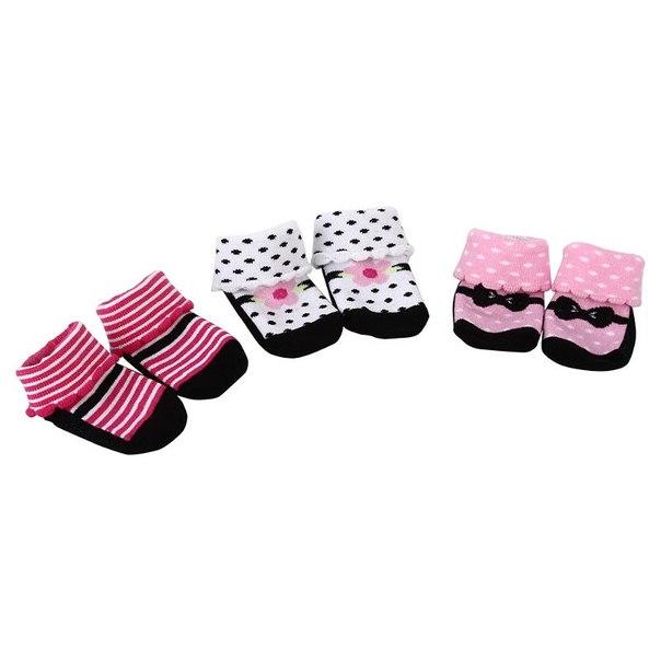 Комплект носочки luvable friends 7112, 55-72 см., розовый