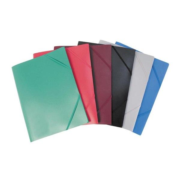 Папка на резинке erich krause, красная (упаковка 6 шт)