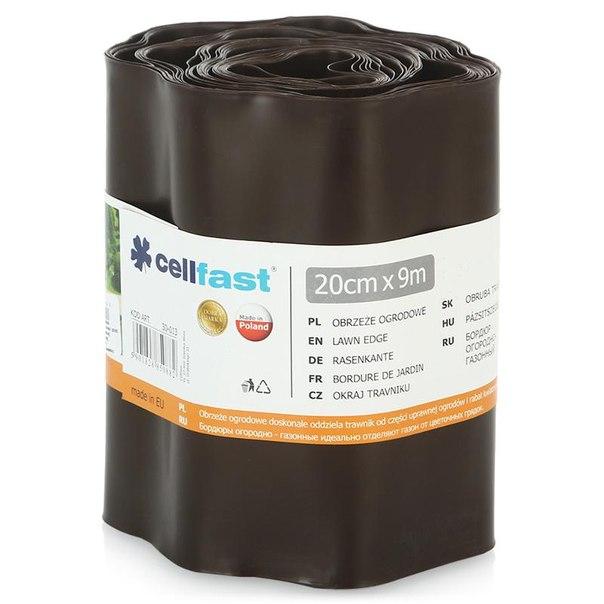 Ограждение для клумбы cellfast 20см х 9м, цвет коричневый