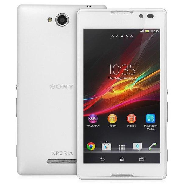 Смартфон sony c2305 xperia c white