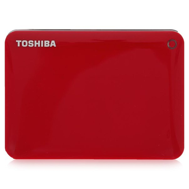 Toshiba canvio connect ii, hdtc810er3aa, 1тб, красный