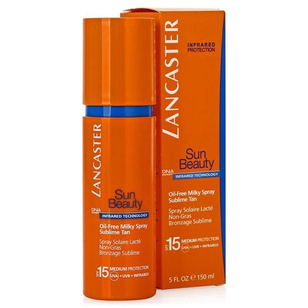 Молочко-спрей spf 15 lancaster sun beauty oil-free milky spray sublime tan великолепный загар, 150 мл, обезжиренное