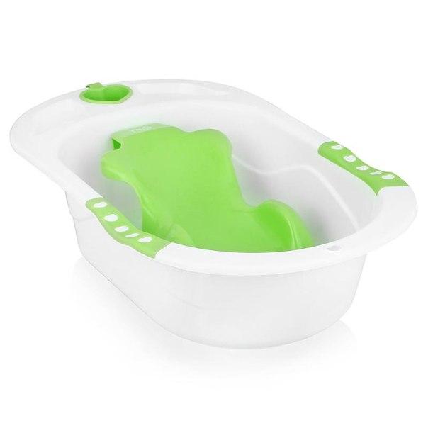 Ванна с анатомической горкой happy baby bath comfort green