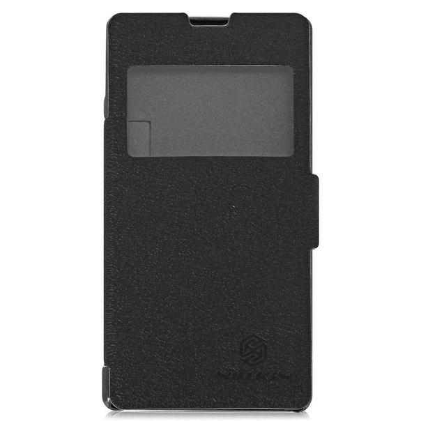 Чехол-книжка nillkin fresh series leather case для sony xperia z1 compact, черный