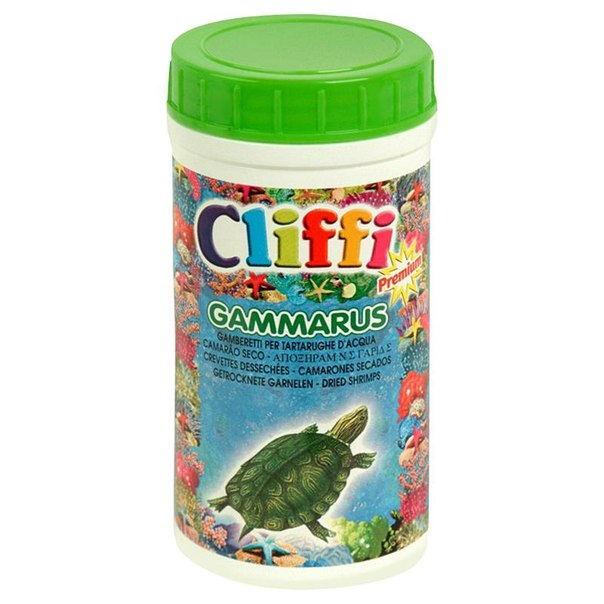 Корм для черепах cliffi, средние сушеные креветки, 1000 мл