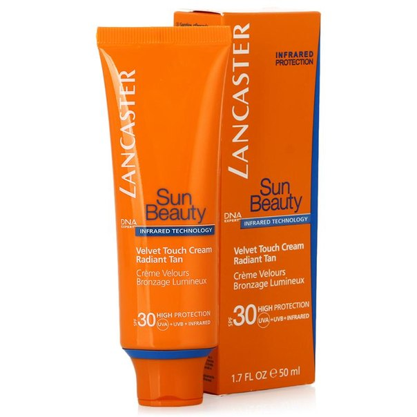 Крем для лица spf 30 lancaster sun beauty velvet touch cream radiant tan сияющий загар, 50 мл