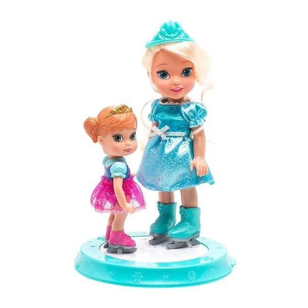Набор кукол принцессы дисней эльза и анна на катке (холодное сердце) 15 см