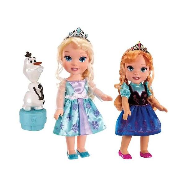 Набор кукол принцессы дисней эльза, анна и олаф (холодное сердце)