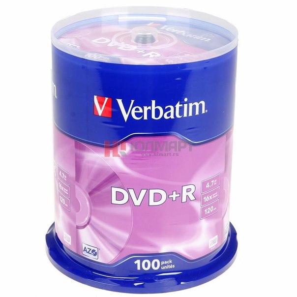 Диски dvd+r 4.7gb 16x matte silver verbatim