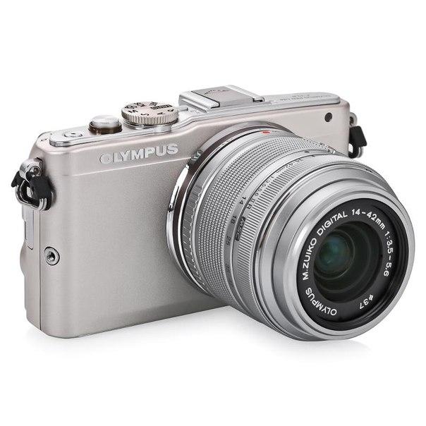 Цифровой фотоаппарат olympus pen e-pl6 kit 14-42mm ii r silver