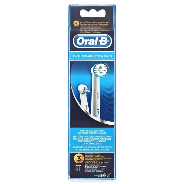 Набор сменных насадкок для электрических зубных щеток oral-b ortho essentials, 3 шт