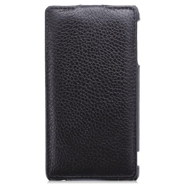 Чехол-флип clever case leather shell для sony lt29i xperia tx, тисненая кожа, черный