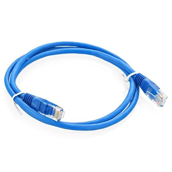 Патч-корды 5e, 1м, синие, AFOX
