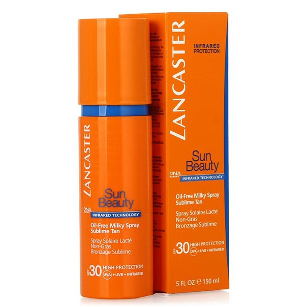 Молочко-спрей spf 30 lancaster sun beauty oil-free milky spray sublime tan великолепный загар, 150 мл, обезжиренное
