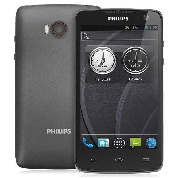 Смартфон philips xenium w732 black/gray