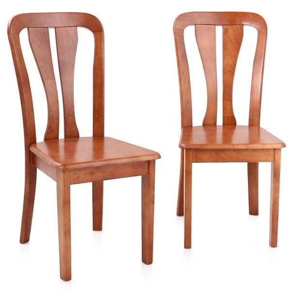 Комплект стульев жестких, 2 шт, 2512 lc, цвет светлая вишня, AFOX