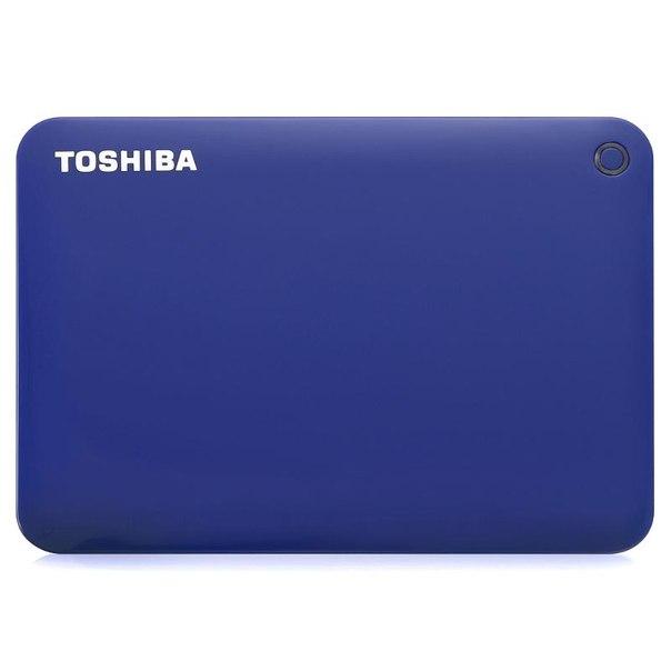 Toshiba canvio connect ii, hdtc810el3aa, 1тб, синий