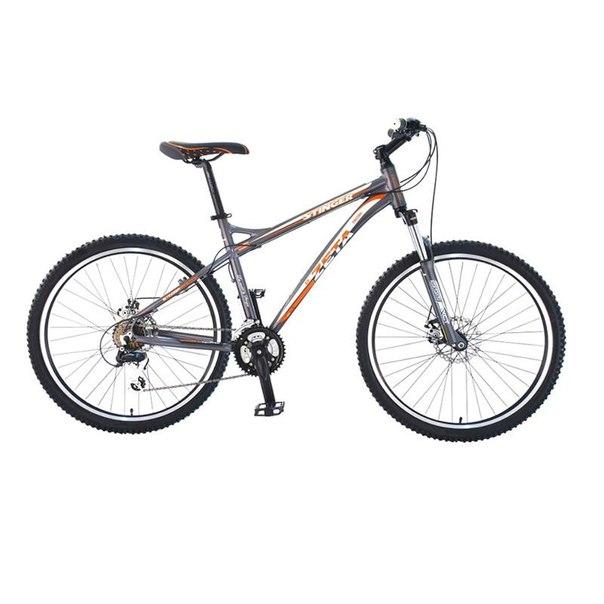Велосипед stinger zeta d, серый-белый-оранжевый (х43976-к)