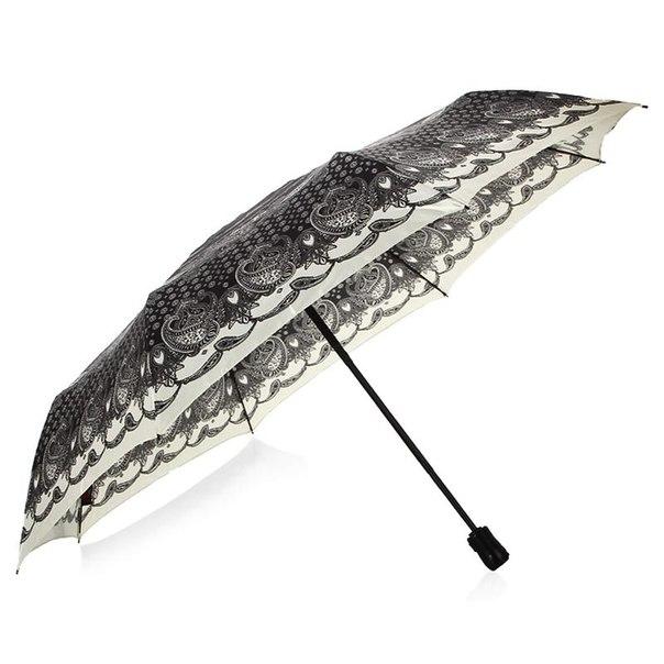 Зонт женский doppler fantasia шелк, 3 сложения, полный автомат