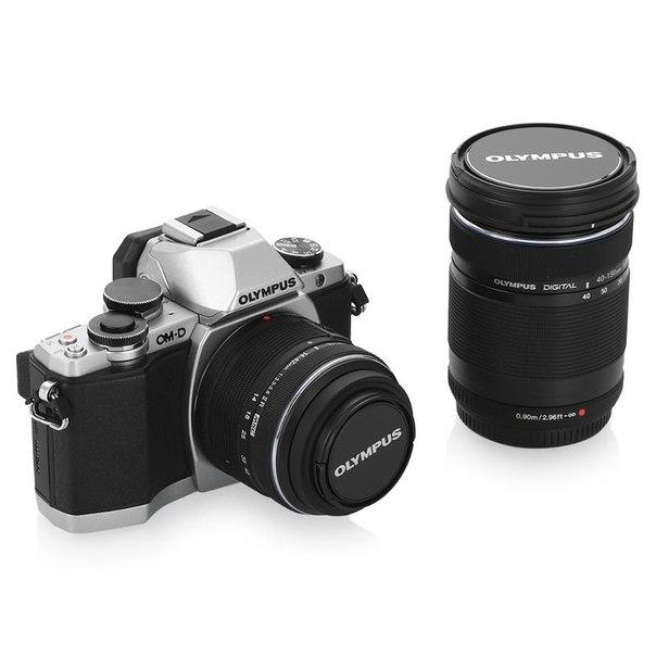 Цифровой фотоаппарат olympus om-d e-m10 kit 14-42mm + 40-150mm silver