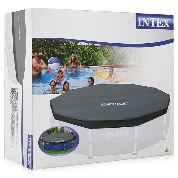 Тент на бассейн intex metal frame 28030, 305х33см