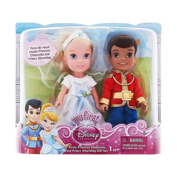 Набор кукол принцессы дисней золушка и принц чаминг, 15 см