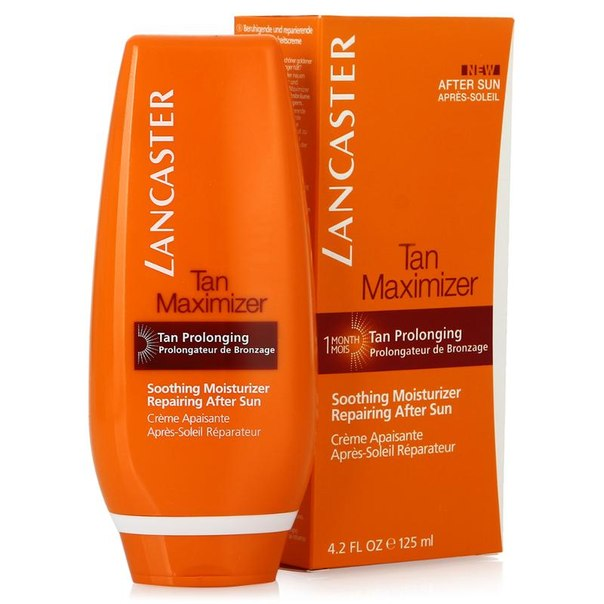 Крем после загара для лица и тела lancaster after sun tan maximizer soothing moisturizer repaing, 125 мл, успокаивающий