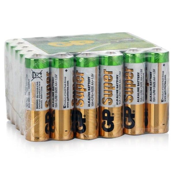 Батарейки aa (lr6) 30шт. gp щелочные 15aru-os10 (x3)