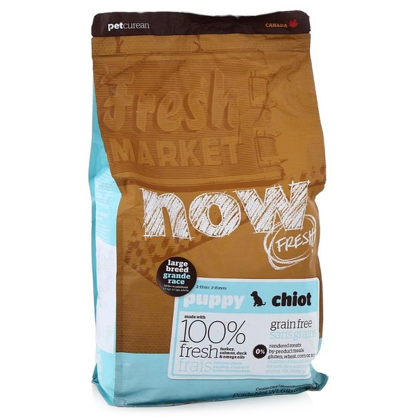 Корм сухой now natural holistic для щенков крупных пород, беззерновой (с индейкой, уткой и овощами) 2,72 кг