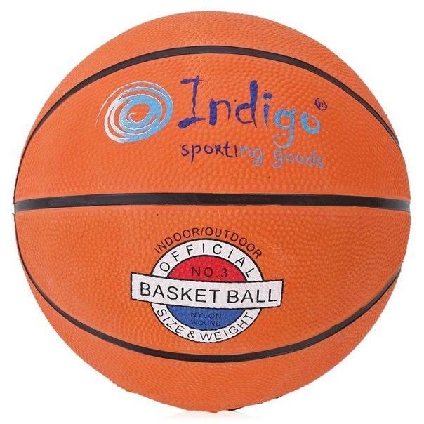 Мяч баскетбольный indigo, размер 3
