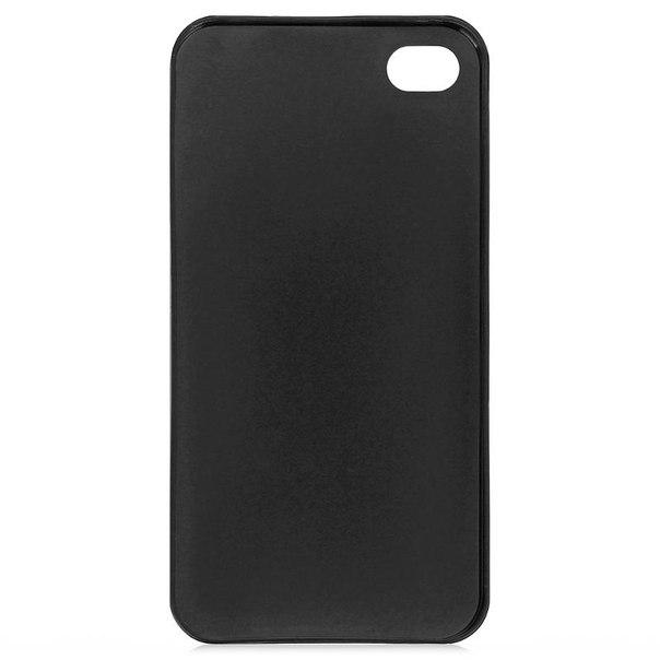 Чехол крышка zakka для iphone 4/4s, черный
