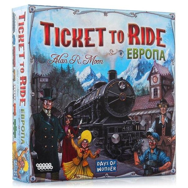 Игра настольная ticket to ride: европа