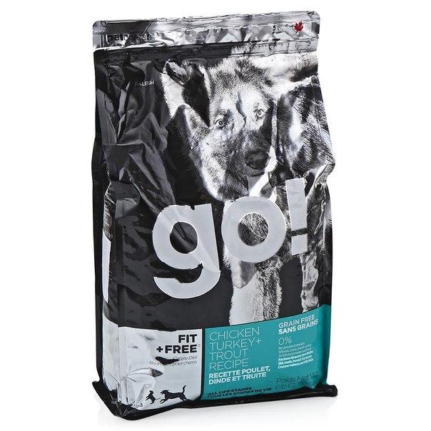 Корм сухой go! natural holistic для собак всех возрастов, беззерновой (4 вида мяса: индейка, курица, лосось, утка) 2,72 кг
