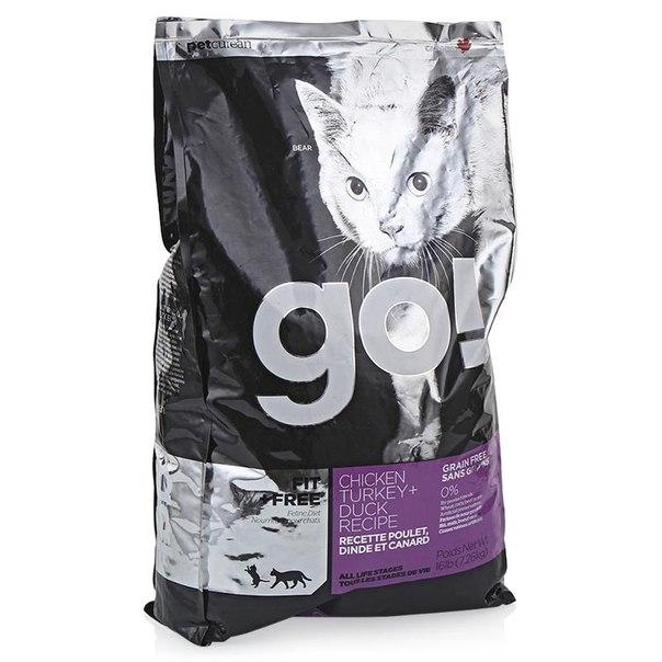 Корм сухой go! natural holistic для котят и кошек, беззерновой (4 вида мяса: курица, индейка, утка и лосось) 7,26 кг
