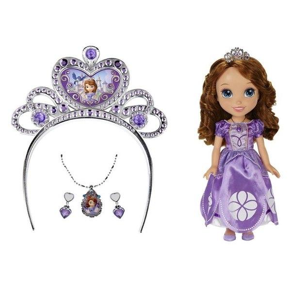 Кукла принцессы дисней софия, с украшениями для девочки, 37 см
