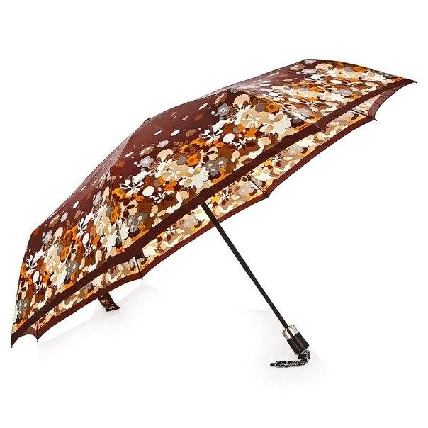 Зонт женский doppler flowers шелк, 3 сложения, полный автомат