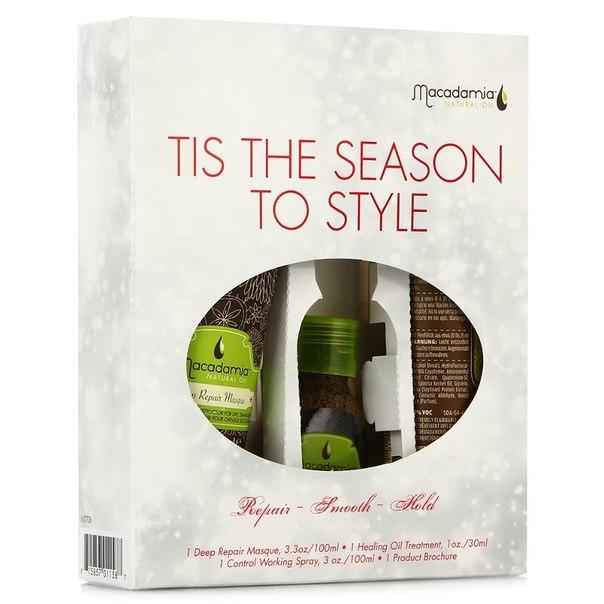 Набор для волос macadamia natural oil tis the season to style, 3 предмета