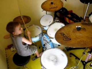 ACDC - Back in Black - Drum Cover - 5 Year Old Drummer