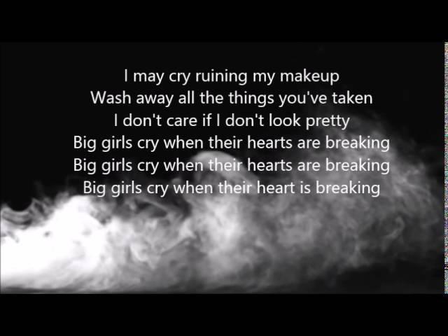 Sia - Big Girls Cry (lyrics on screen)