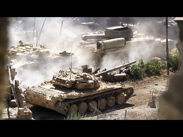 ᴴᴰ Tank with GoPro™ gets multiple Hits in Jobar Syria ♦ subtitles