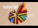 Tutorial colgante macramé arcoiriz pendant rainbow macramé